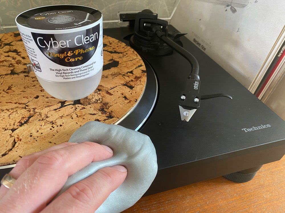 Vinyl Record Collecting Tips Featuring cleaning gel to clear dust.